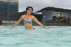MFC's Olivia in Icelandic hot outdoors pool
